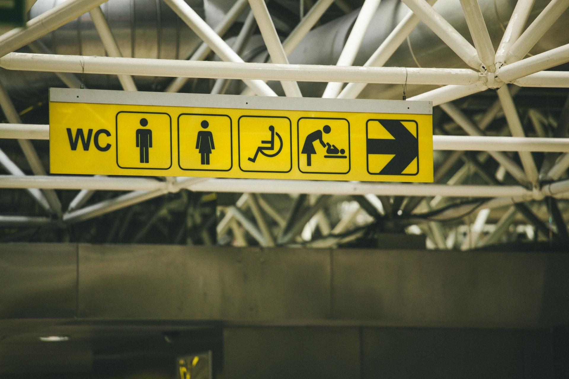 Disabled bathroom sign